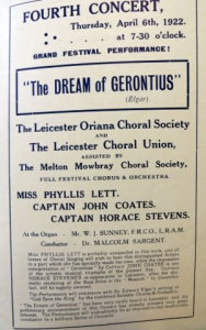 Russell Subscription concert programme