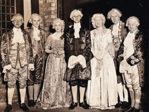 Karl Russell at a fancy dress event in the post war years