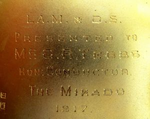 Engraving on inside of cigarette case from 1917