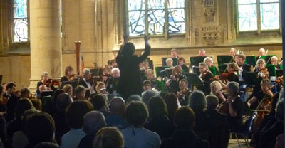 LSO performing in the Basilique Notre Dame d'Esperance in Charleville-Mézières